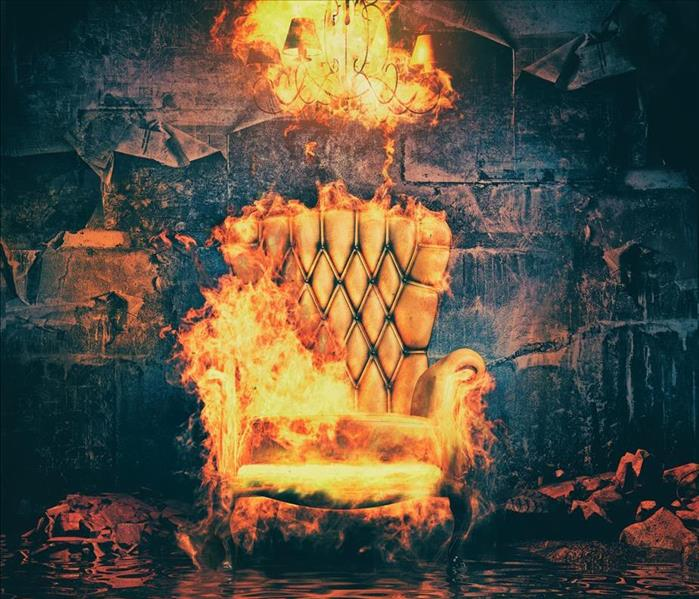 flaming easy chair